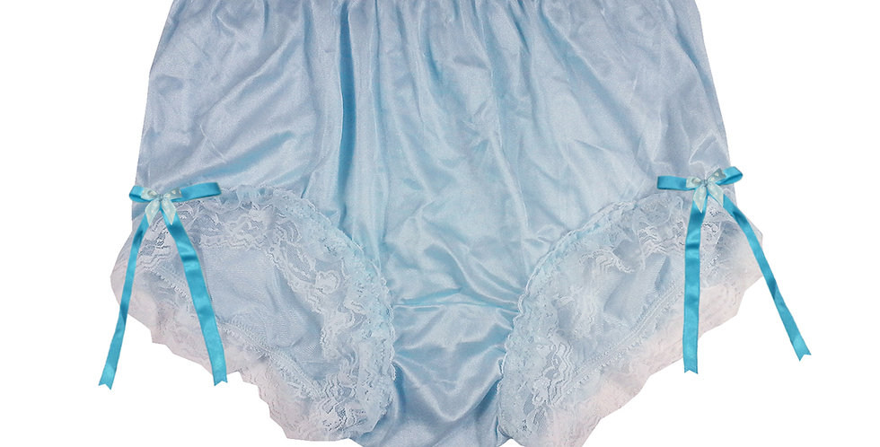NYH21D01 Blue Handmade New Panties Briefs Lace Sheer Nylon Men Women
