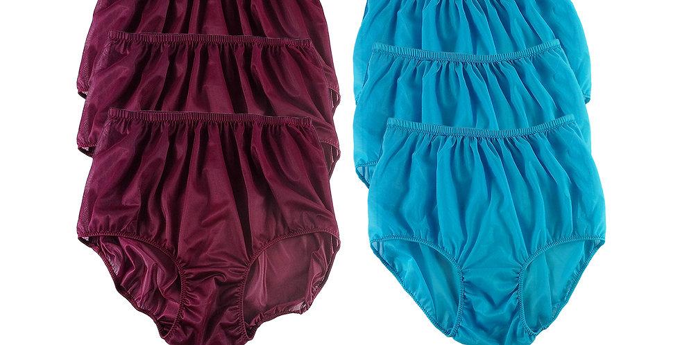 NSD68Lots 6 pcs Wholesale Women New Panties Granny Briefs Nylon Lingerie
