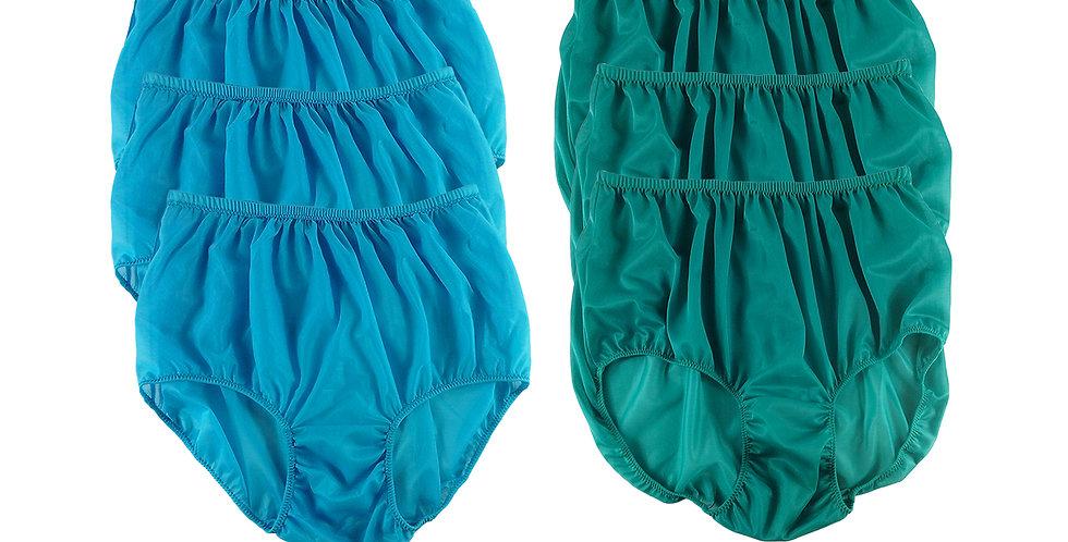 NSD134Lots 6 pcs Wholesale Women New Panties Granny Briefs Nylon Lingerie