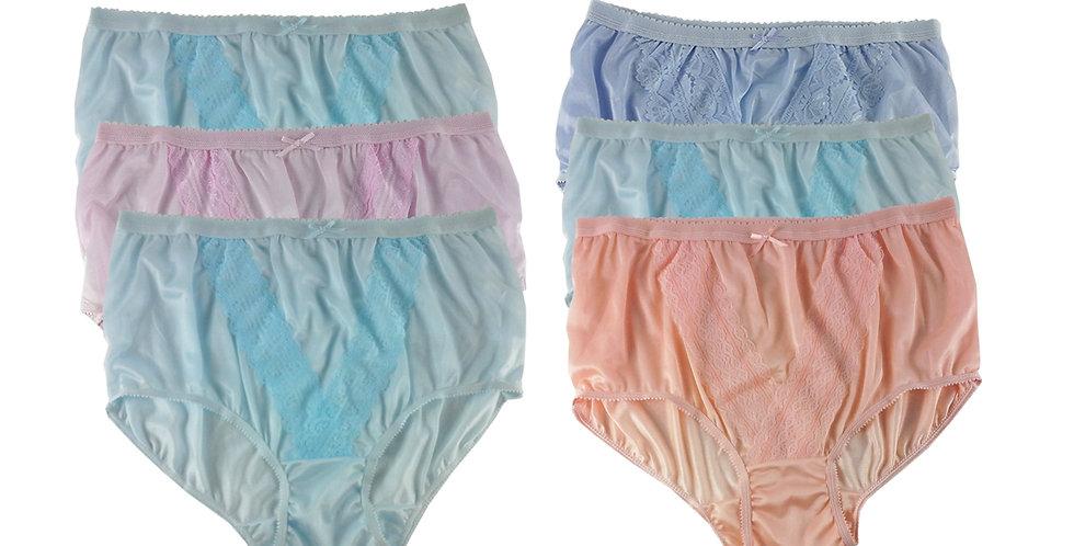 NLSG79 Lots 6 pcs Wholesale New Panties Granny Briefs Nylon Men Women