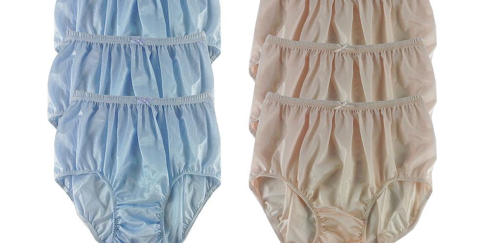 NQSC12 Lot 6 pcs Wholesale New Panties Granny Briefs Nylon Men Women
