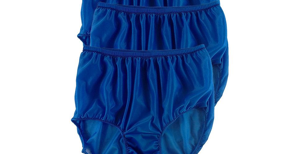 B9 Royal Blue Lots 3 pcs Wholesale Women New Panties Granny Briefs Nylon