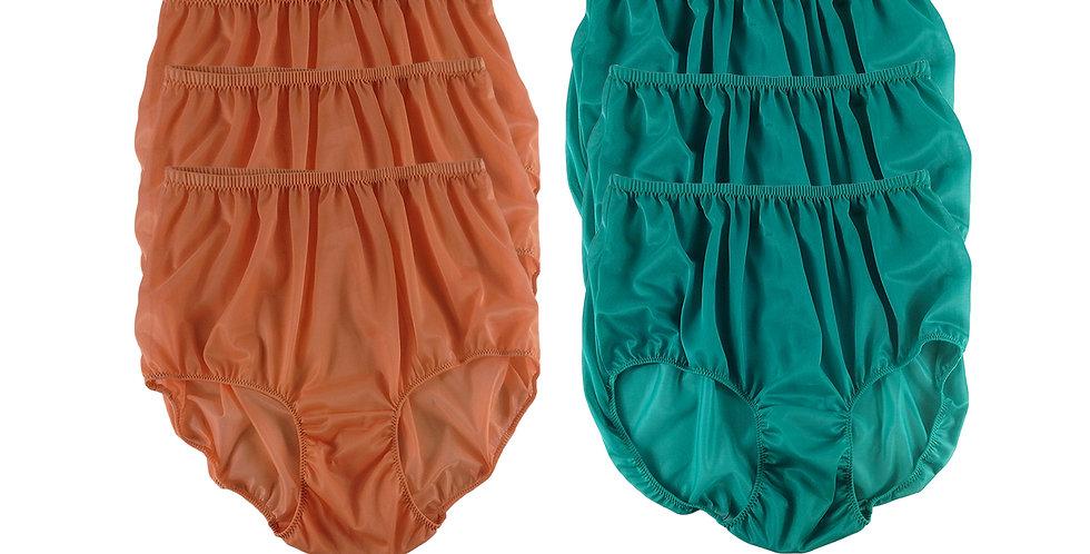 NSD129Lots 6 pcs Wholesale Women New Panties Granny Briefs Nylon Lingerie