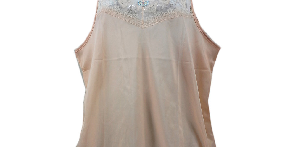 BOS04 Brown Silky New Nylon Blouse Lace Camisole Tank Top Women