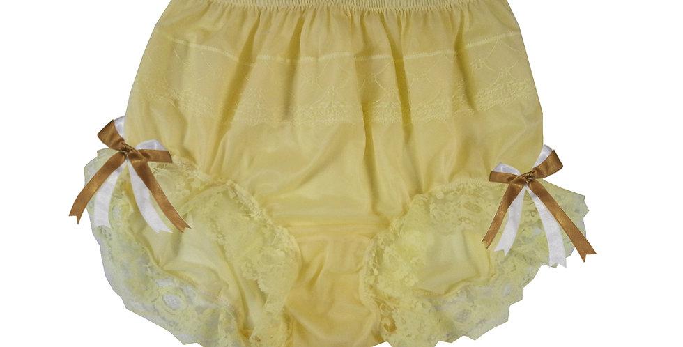 JYH10D02 yellow Handmade Nylon Panties Women Men Lace Knickers Briefs