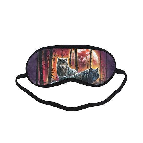 ATEM230B wolves in forest Eye Printed Sleeping Mask