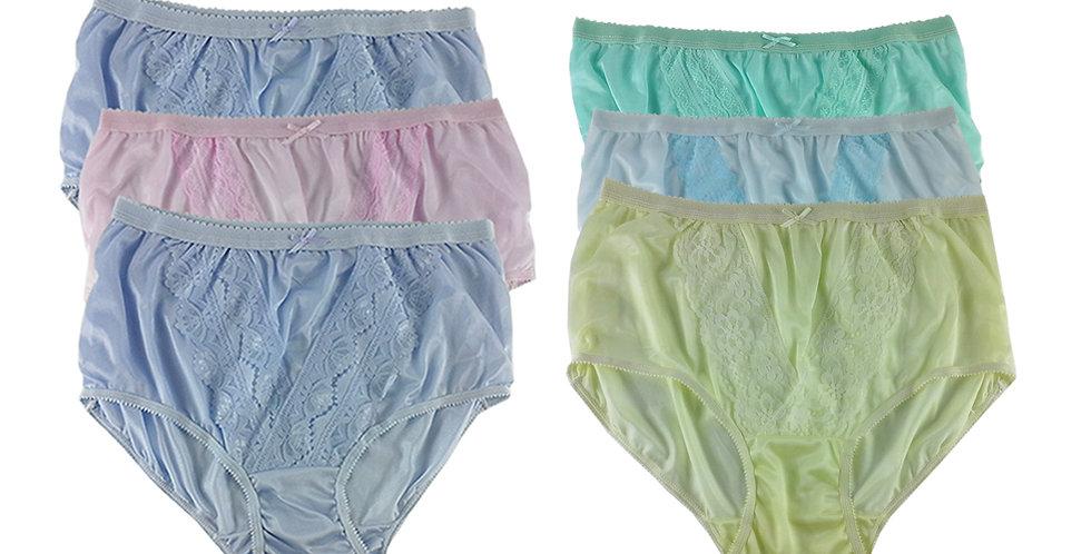 NLSG21 Lots 6 pcs Wholesale New Panties Granny Briefs Nylon Men Women