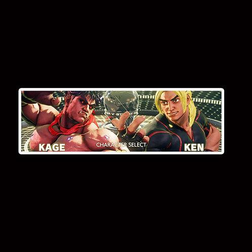 Slap Stickers Anime Stickers Decals Helmet laptops SLSF32 Street Fighter Game