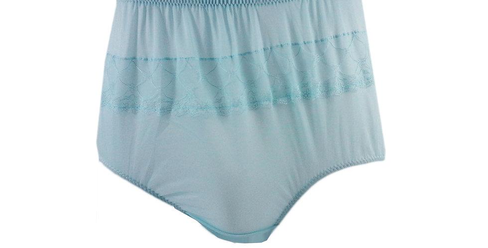 JY07 Fair Blue Silky Nylon Panties Women Men Floral Knickers Briefs