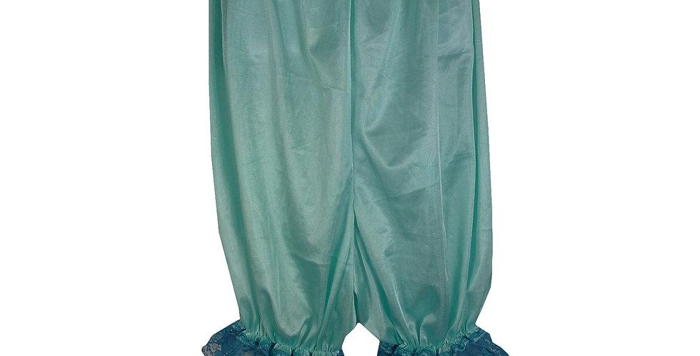 PTPH01D03 Green New Nylon Pettipants Women Men Slips Lace Lingerie