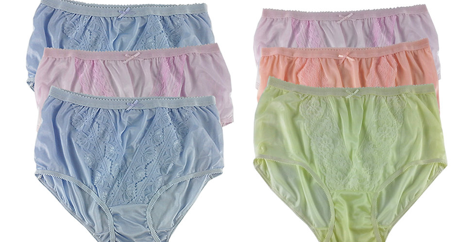 NLSG19 Lots 6 pcs Wholesale New Panties Granny Briefs Nylon Men Women
