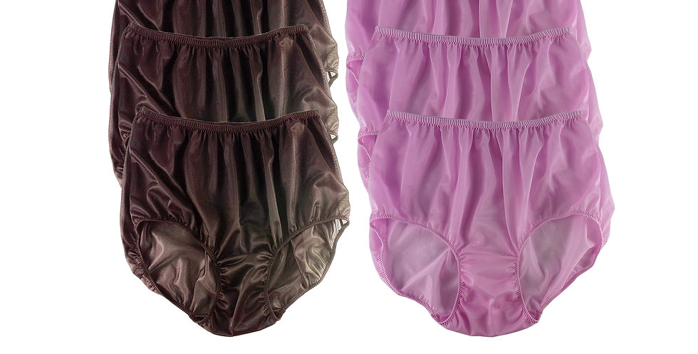 NSD18Lots 6 pcs Wholesale Women New Panties Granny Briefs Nylon Lingerie