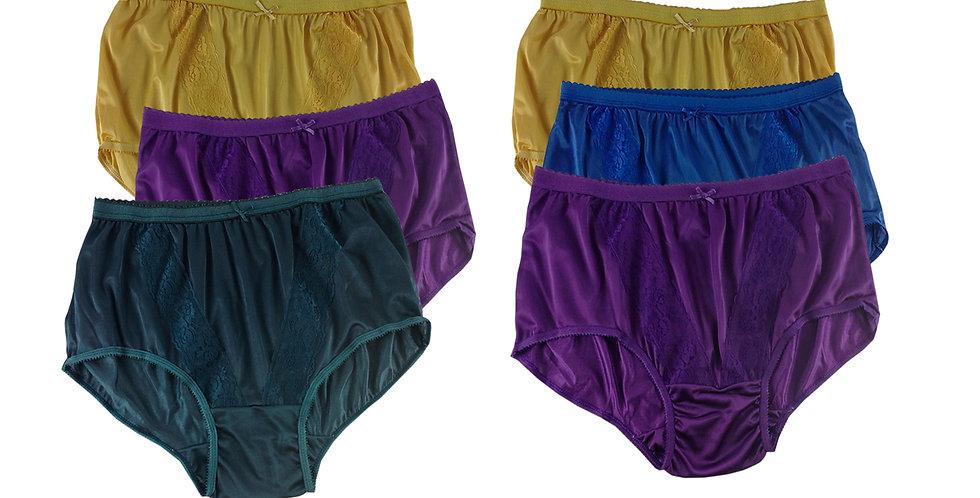 KJSJ38 Lots 6 pcs Wholesale New Panties Granny Briefs Nylon Men Women