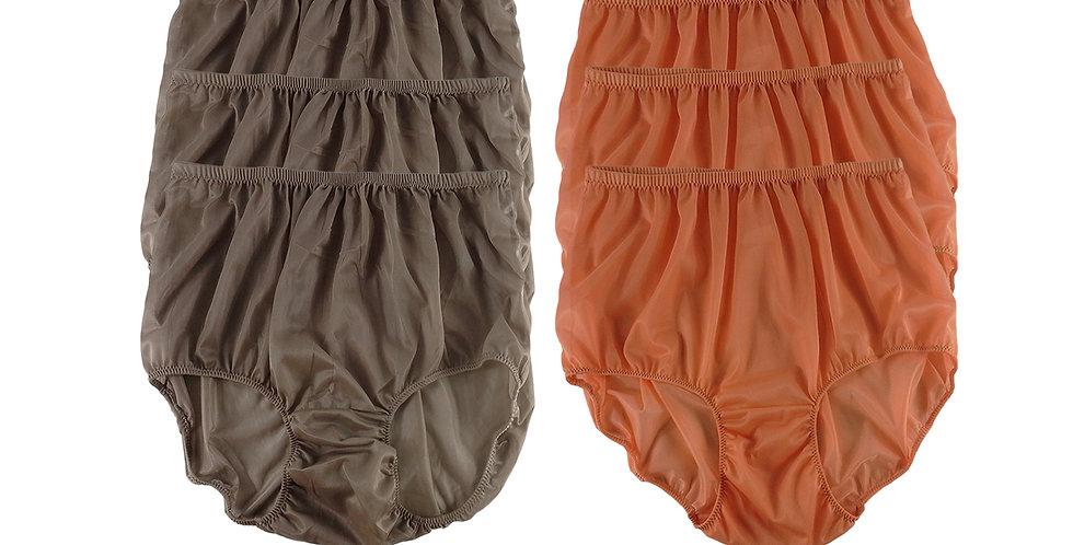 NSD96Lots 6 pcs Wholesale Women New Panties Granny Briefs Nylon Lingerie
