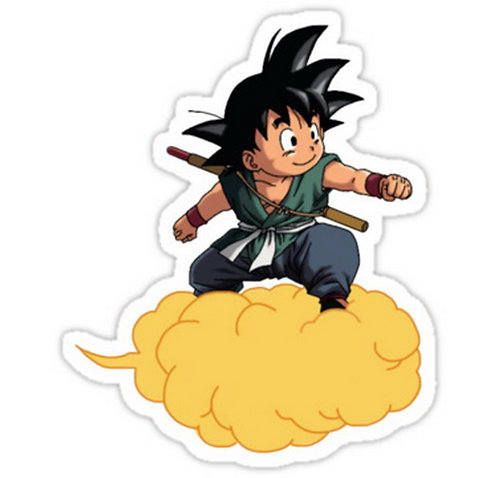 SRBB0503 Goku Dargon Ball Z anime sticker