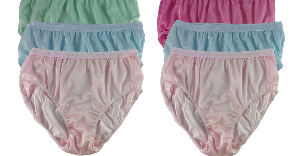 CKSL18 Lots 6 pcs Wholesale New Nylon Panties Women Undies Briefs