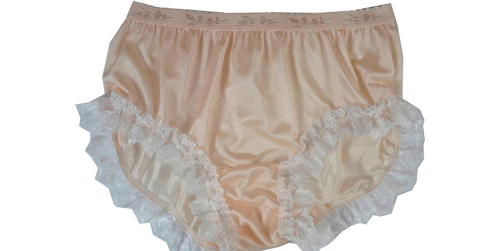 CKH24D04Orange New Nylon Panties Women Handmade Lace Briefs Underwear