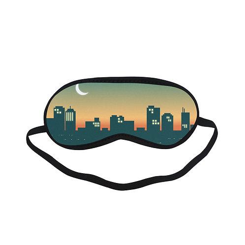 PTEM133 night town design Eye Printed Sleeping Mask