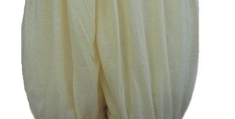 PCPHF3P yellow Cotton Pettipants Women Slips Lace Lingerie Underwear