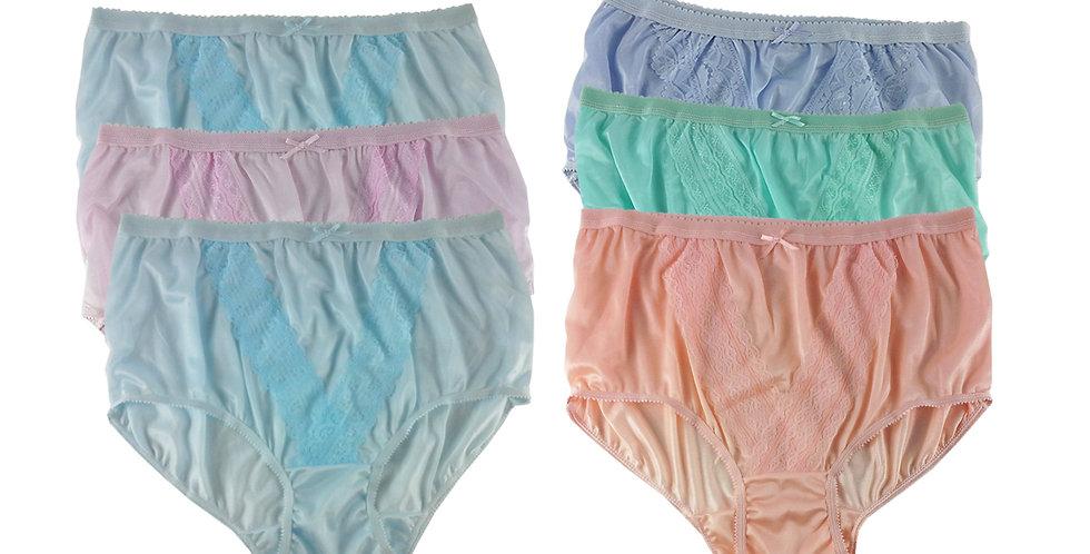 NLSG82 Lots 6 pcs Wholesale New Panties Granny Briefs Nylon Men Women