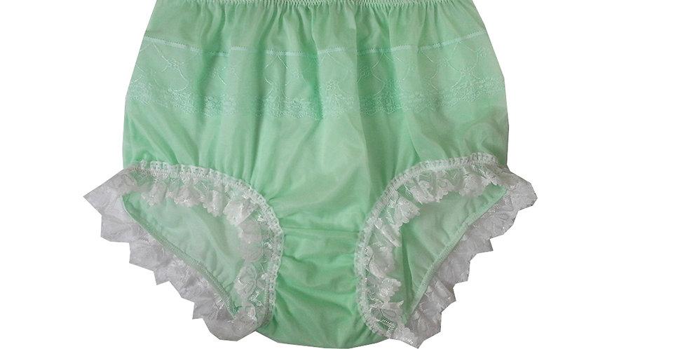 JYH24D05 Fair Green Handmade Nylon Panties Women Men Lace Knickers Briefs
