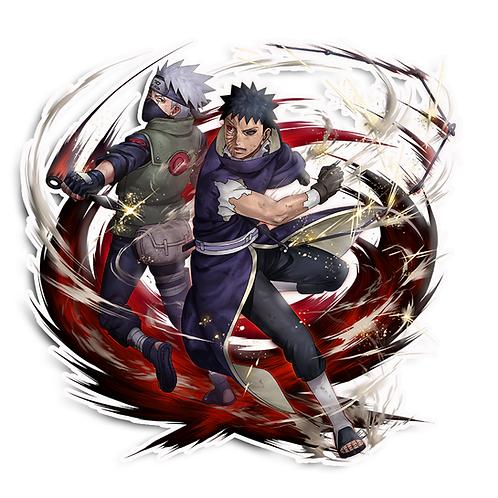 NRT289 Obito and Kakashi Naruto anime s