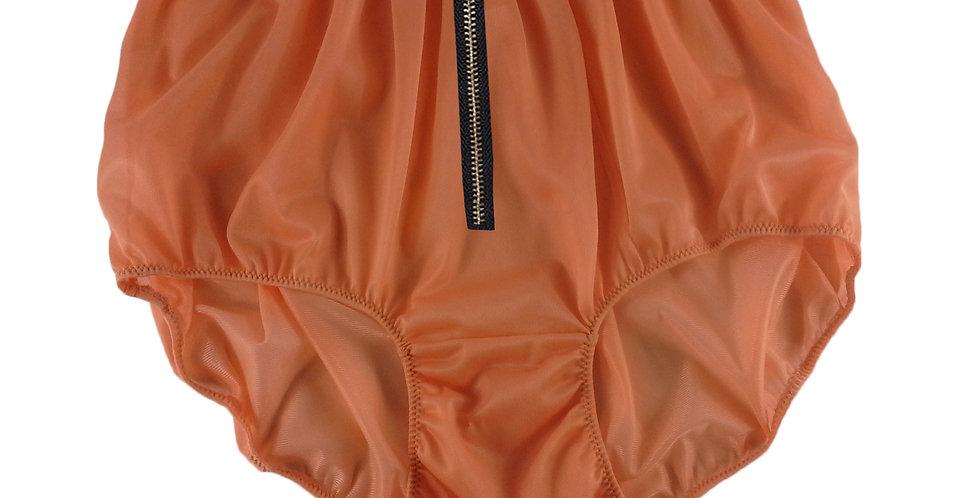 NNH03I13 ORANGE Zipper Handmade Panties Lace Women Men Briefs Nylon Knickers