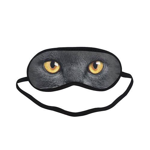ATEM077 black cat Eye Printed Sleeping Mask