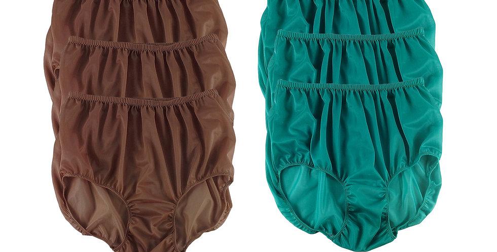 NSD90Lots 6 pcs Wholesale Women New Panties Granny Briefs Nylon Lingerie