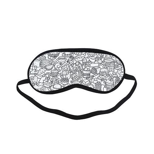 PTEM209 cute bakery doodle Eye Printed Sleeping Mask