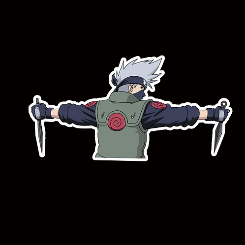 NOR139 Kakashi Hatake Naruto Peeking anime sticker Car Decal Vinyl Window