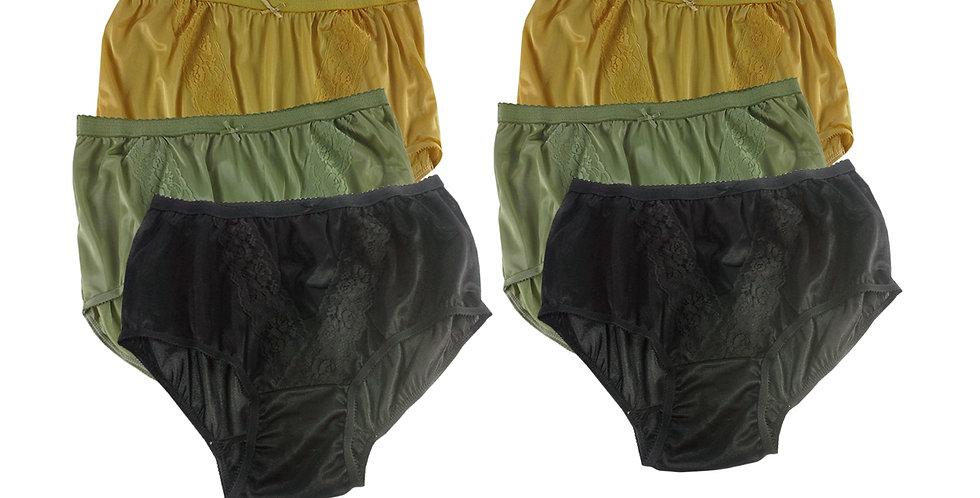 KJSJ64 Lots 6 pcs Wholesale New Panties Granny Briefs Nylon Men Women