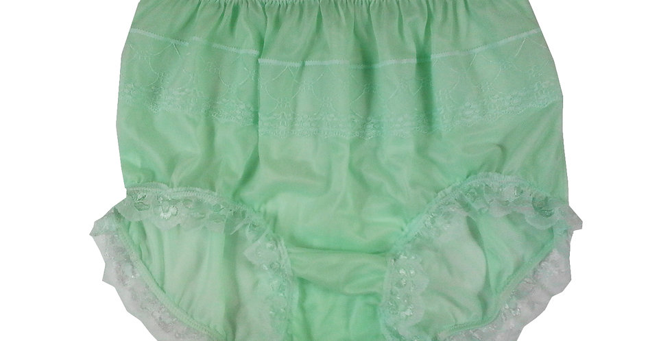 JYH04D09 fair green Handmade Nylon Panties Women Men Lace Knickers Briefs