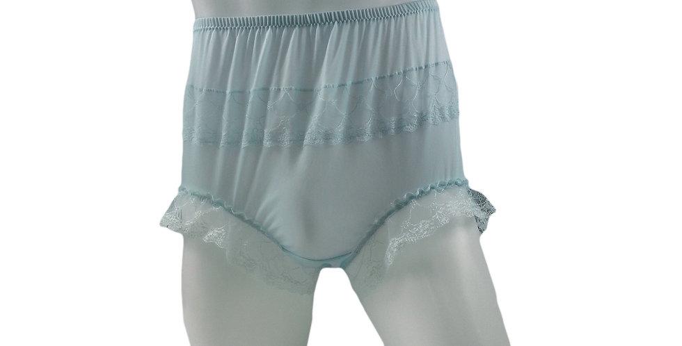 JYH04D03 Fair Blue Handmade Nylon Panties Women Men Lace Knickers Briefs