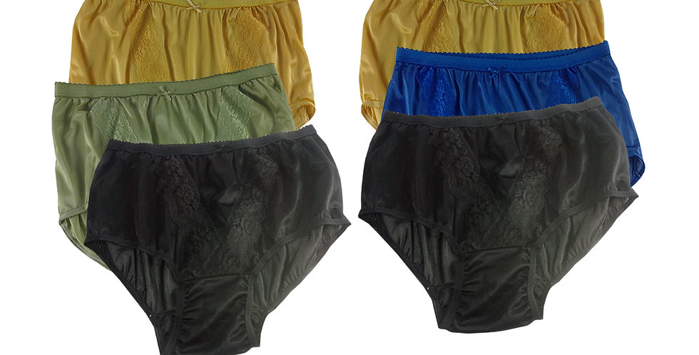 KJSJ42 Lots 6 pcs Wholesale New Panties Granny Briefs Nylon Men Women