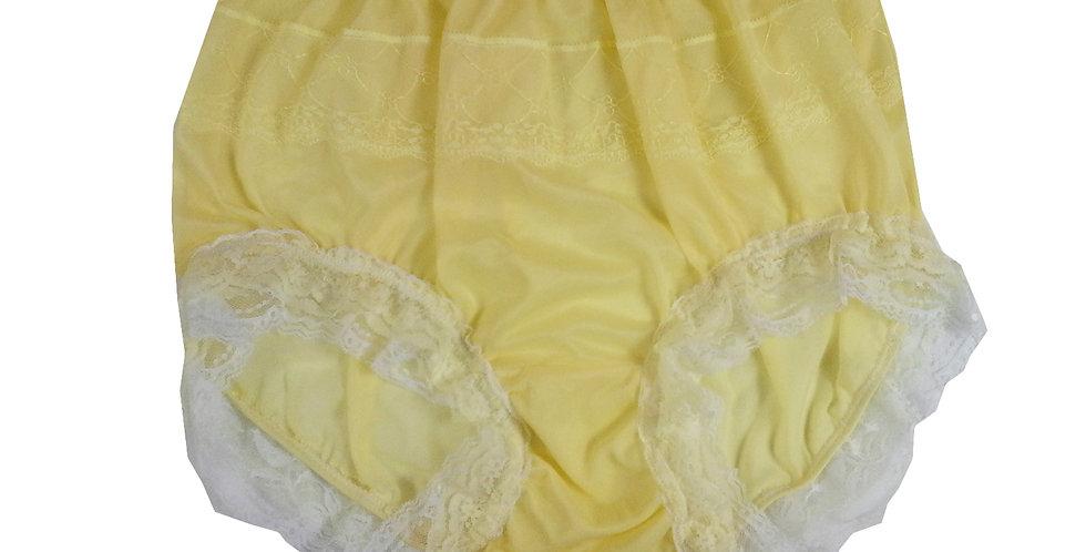 JYH05D07 Yellow Handmade Nylon Panties Women Men Lace Knickers Briefs