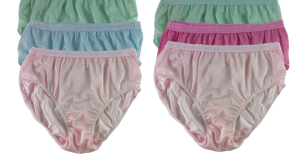 CKSL19 Lots 6 pcs Wholesale New Nylon Panties Women Undies Briefs