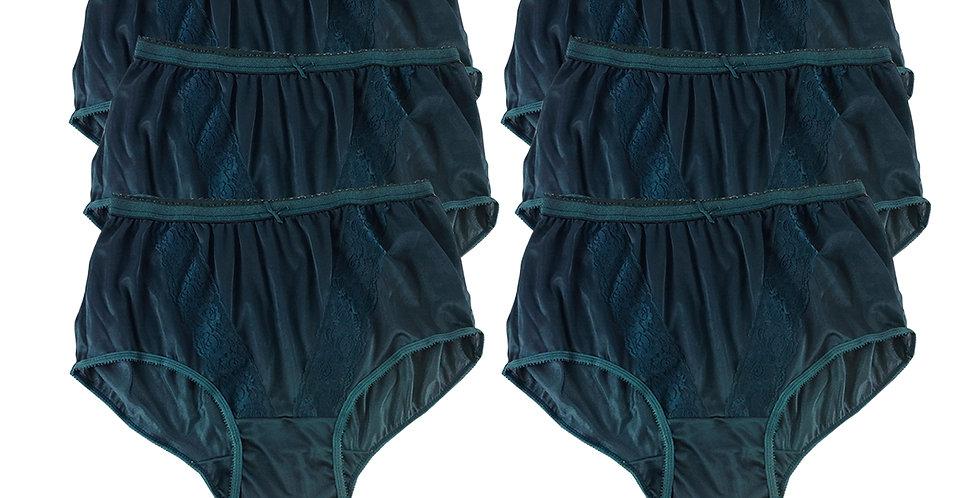 KJS DEEP GREEN Lots 6 pcs Wholesale New Panties Granny Briefs Nylon Men Women