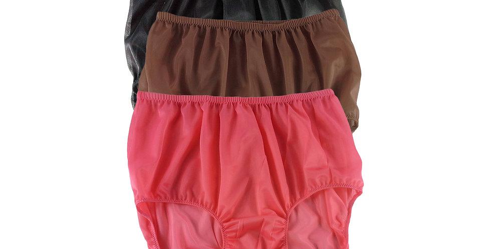 A84 Lots 3 pcs Wholesale Women New Panties Granny Briefs Nylon Knickers