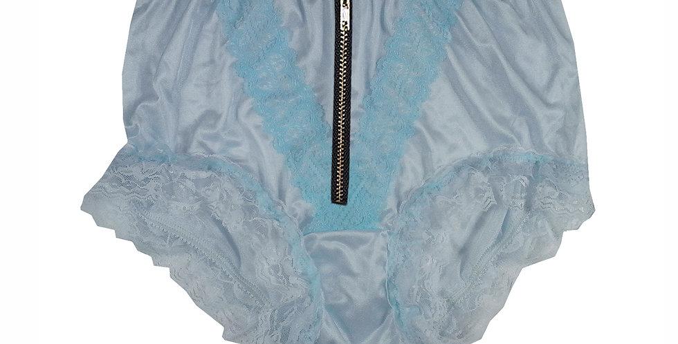 NLH23DI02 Blue Zipper New Panties Granny Lace Briefs Nylon Handmade  Men