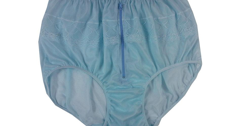 JYH03D01 Fair Blue Zipper Handmade Nylon Panties Women Men Lace Knickers Briefs