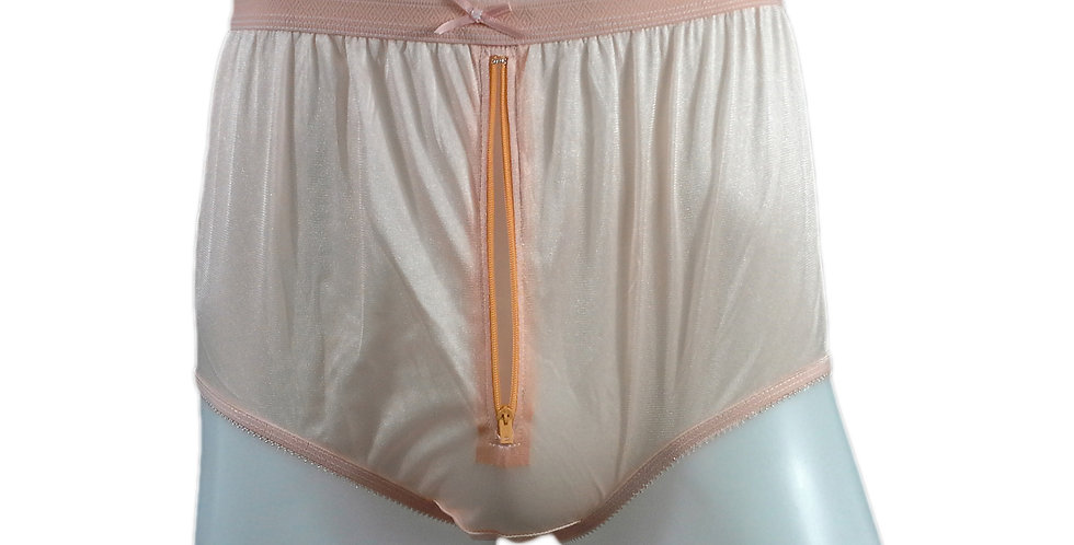 NYH03P04 orange Handmade New Panties Briefs Lace Sheer Nylon Men Women