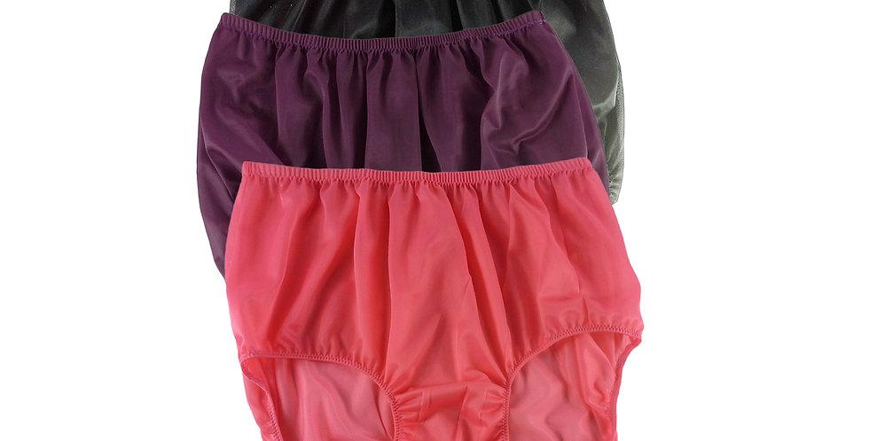 A87 Lots 3 pcs Wholesale Women New Panties Granny Briefs Nylon Knickers