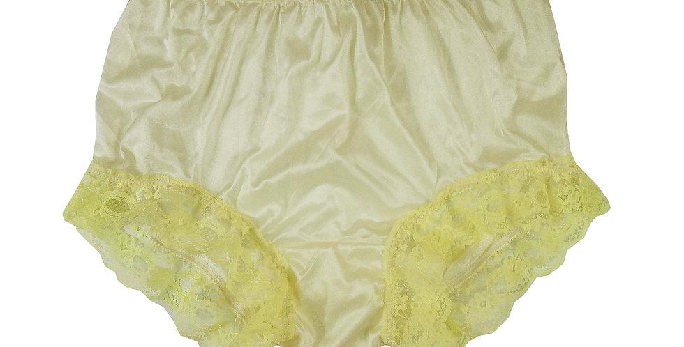 NYH04D03 yellow Handmade New Panties Briefs Lace Sheer Nylon Men Women