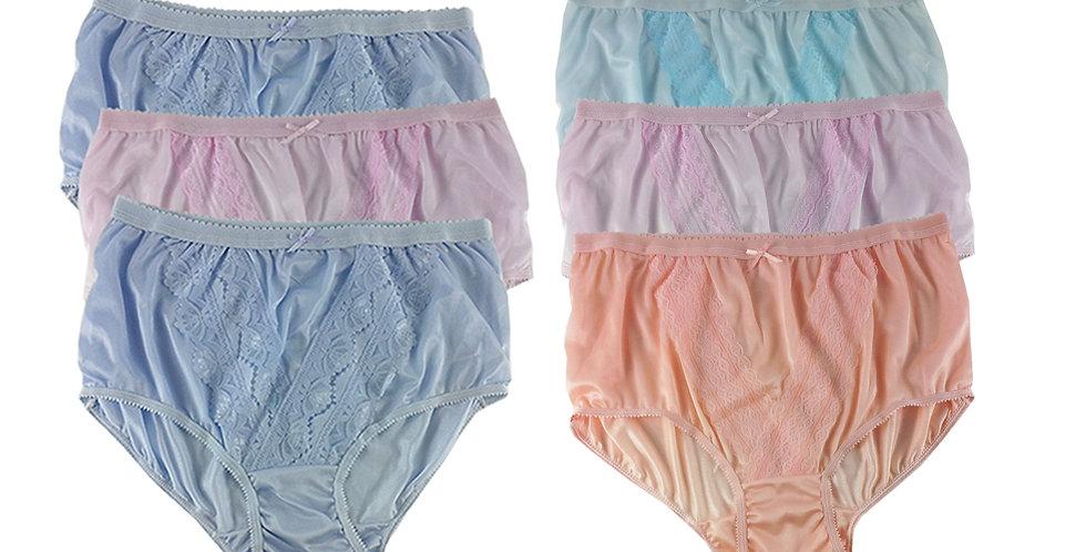 NLSG22 Lots 6 pcs Wholesale New Panties Granny Briefs Nylon Men Women
