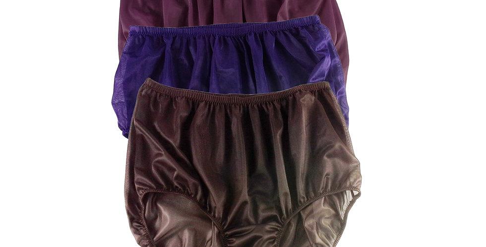 A38 Lots 3 pcs Wholesale Women New Panties Granny Briefs Nylon Knickers