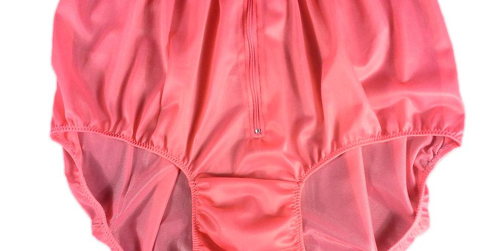NH03D04 Light Pink Handmade Panties Lace Women Men Briefs Nylon Knickers