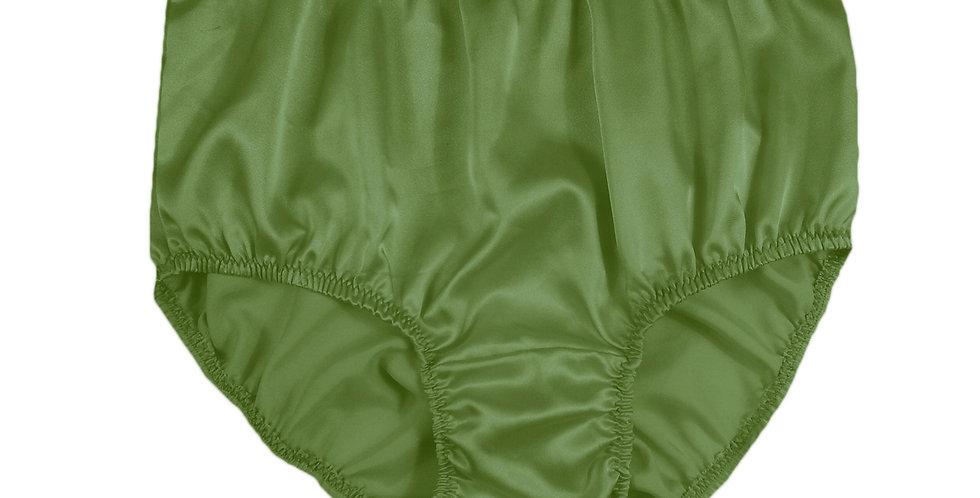 STP10 Olive Green New Satin Panties Women Men Briefs Knickers