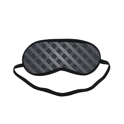 PTEM009 Black Grid pattern  Eye Printed Sleeping Mask