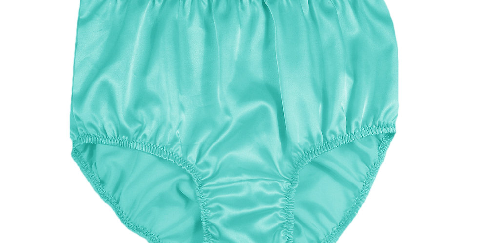 STP04 Fair Green New Satin Panties Women Men Briefs Knickers